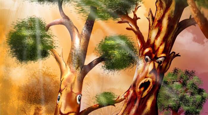 الشجرةُ الطيّبة والشجرةُ الخبيثة